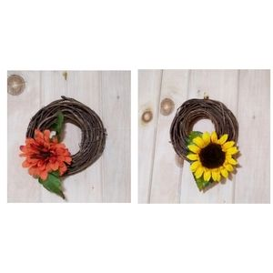 Set of two fall wreaths